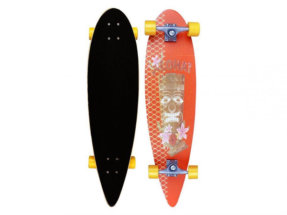 "Black Dragon 36"" Pintail Tropical Funk longboard"