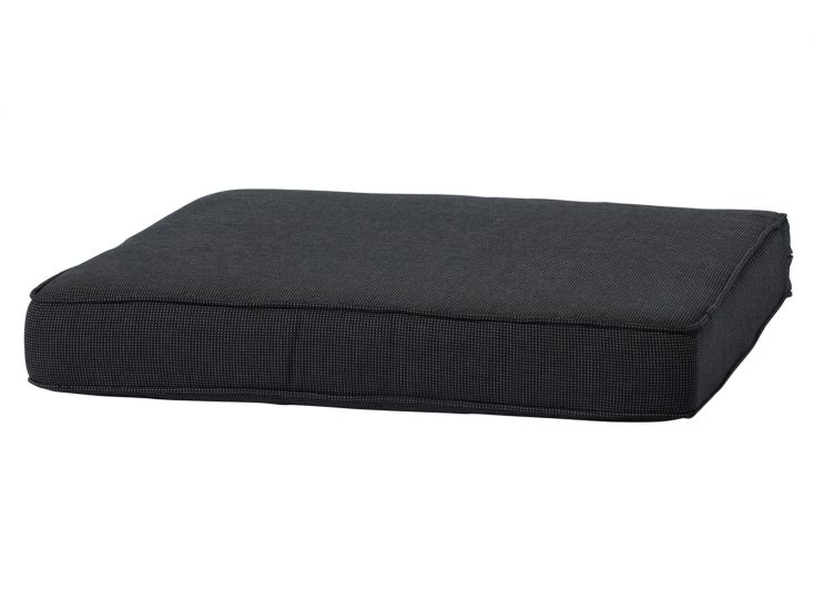 Madison Lounge Luxe zit Rib Black 60x60 coussin salon de jardin