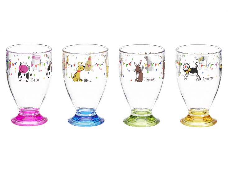 Flamefield Charlie and Friends lot de 4 verres