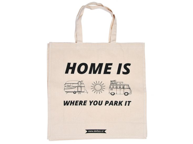Obelink Home is where you park it tote bag
